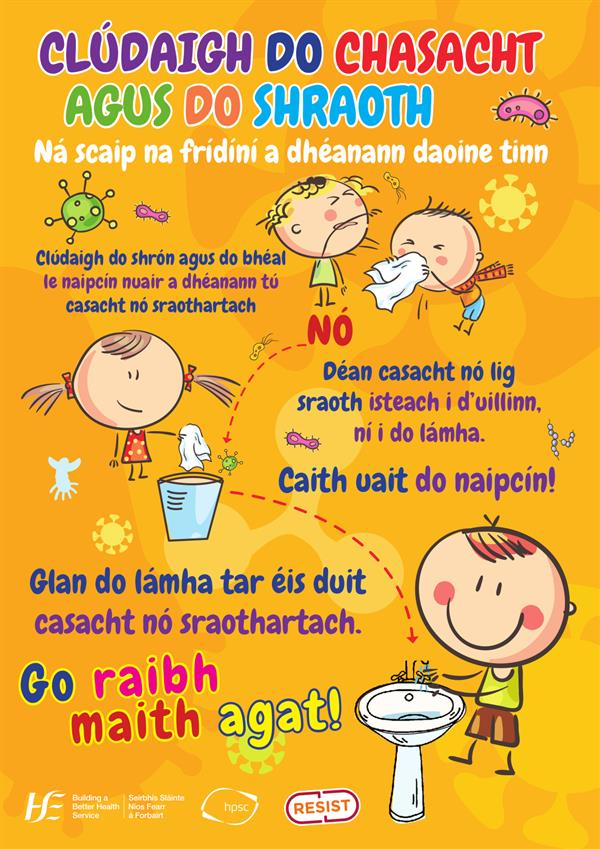 Póstaeir Eolais - Covid-19 - Information Posters