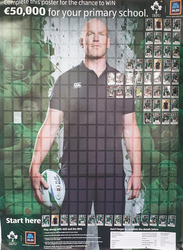 Greamóga Rugbaí - Aldi - Rugby Stickers
